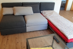Apartment A - Wohnbereich 3x Bettsofa / Living area 3x bedsofa